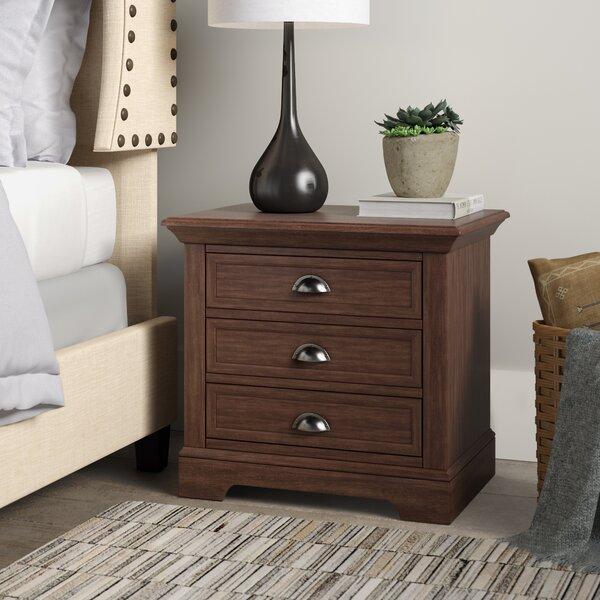 Appleby 3 Drawer Wood Nightstand by Greyleigh