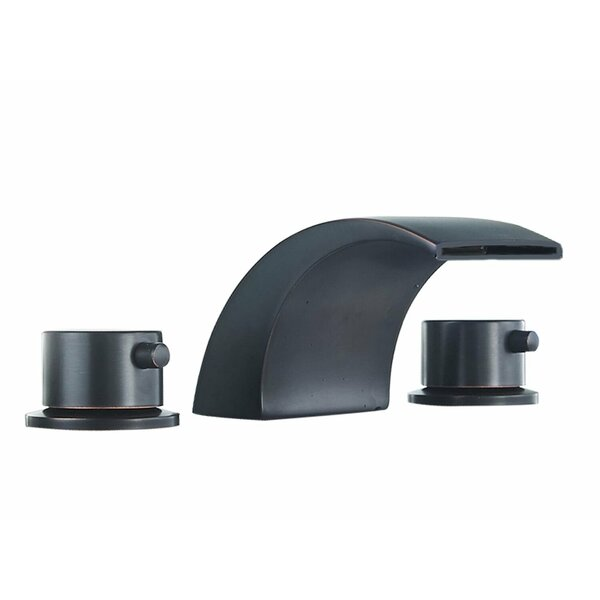 DFI Led Waterfall Widespread Bathroom Faucet by Aquafaucet