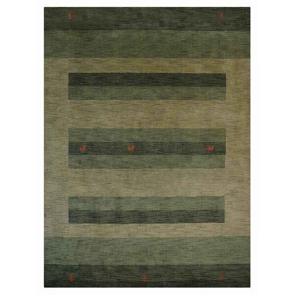 St Catherine Hand-Woven Wool Green Area Rug by Millwood Pines
