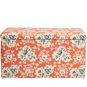Barbour Floral Cotton Upholstered Storage Bench by August Grove