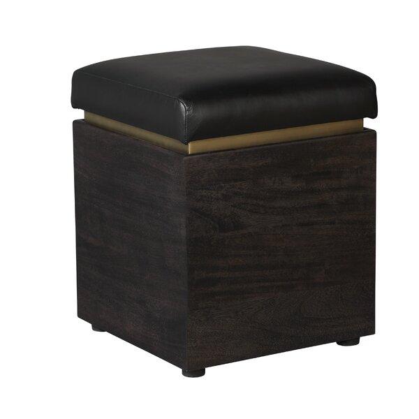 Read Reviews Barraute Leather Storage Ottoman
