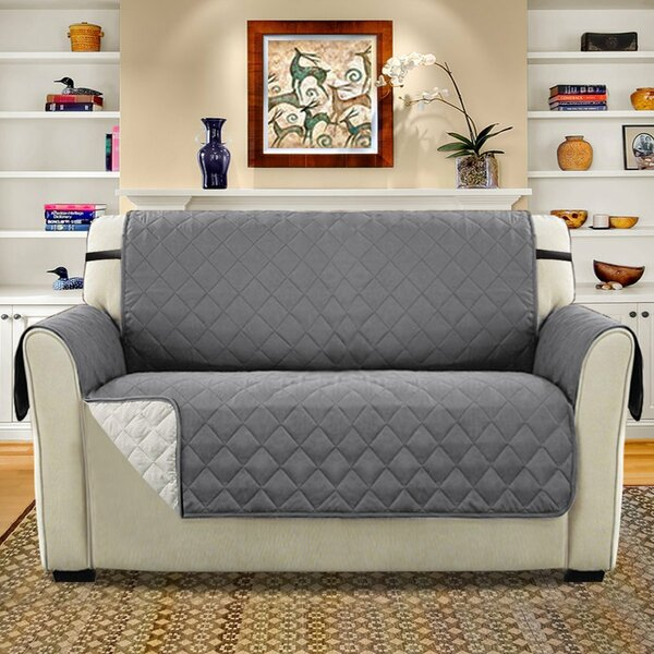 Diamond T-Cushion Loveseat Slipcover By Winston Porter