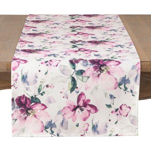 august grove wiegers watercolor bloom table runner wayfair