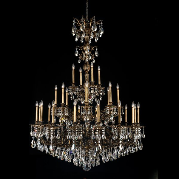 Milano 28-Light Candle Style Tiered Chandelier by Schonbek Schonbek