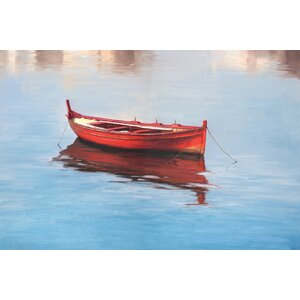 Boat by Alex Wang Painting Print on Wrapped Canvas by Portfolio Canvas Decor