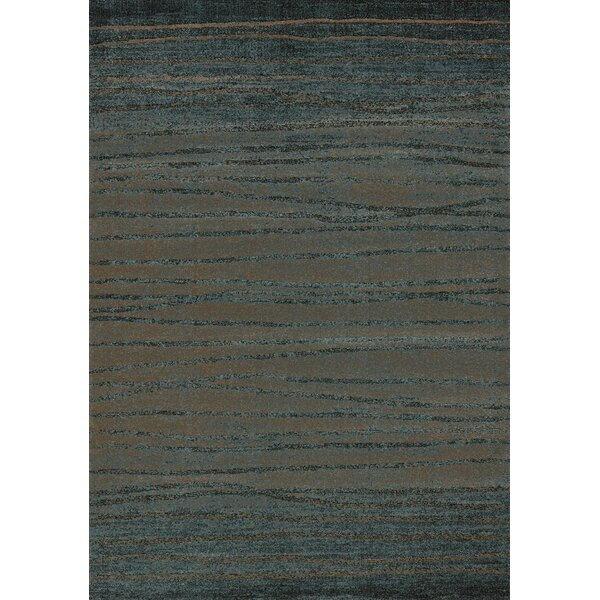 Kailee Twigs Brown/Blue Area Rug by Ebern Designs