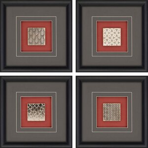 Pattern Tiles 4 Piece Framed Graphic Art Set by Paragon