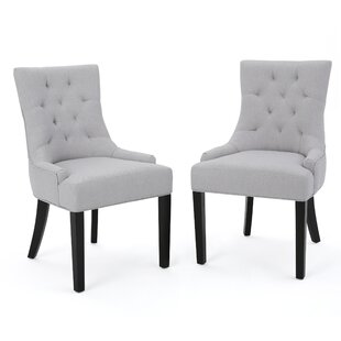 Bargain Grandview Side Upholstered Dining Chair (Set of 2) by Alcott Hill