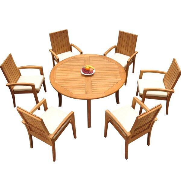 Weber 7 Piece Teak Dining Set by Bayou Breeze