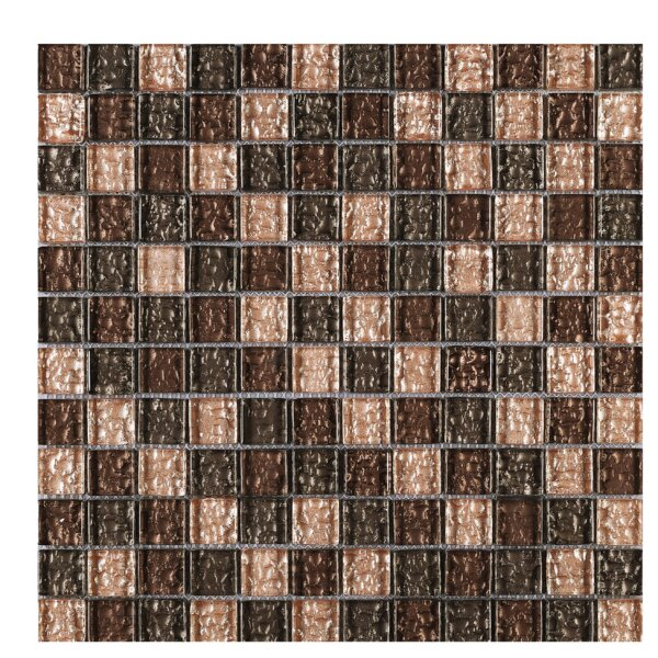Shinny Glass Mosaic Tile in Brown by Multile