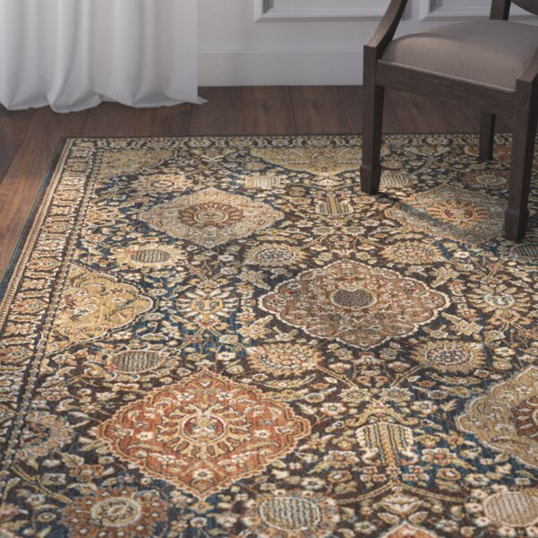 Eastman Hand-Woven Blue/Gold Area Rug by Darby Home Co