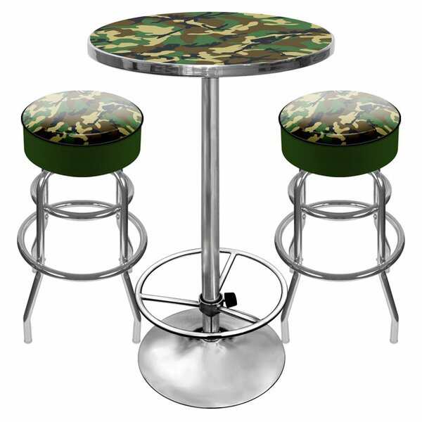 Hunt Camo Game Room 3 Piece Pub Table Set by Trademark Global Trademark Global