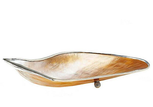 Rochelle Mabe Shell Trimmed Gravy Boat by Rosecliff Heights