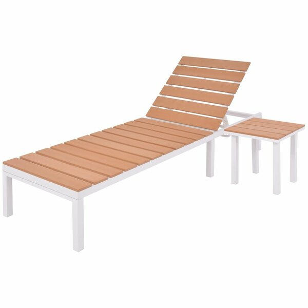 Reclining Chaise Lounge With Table by Latitude Run