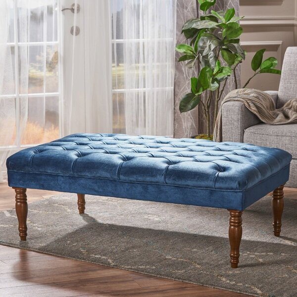 Bridge Tufted Cocktail Ottoman by Charlton Home