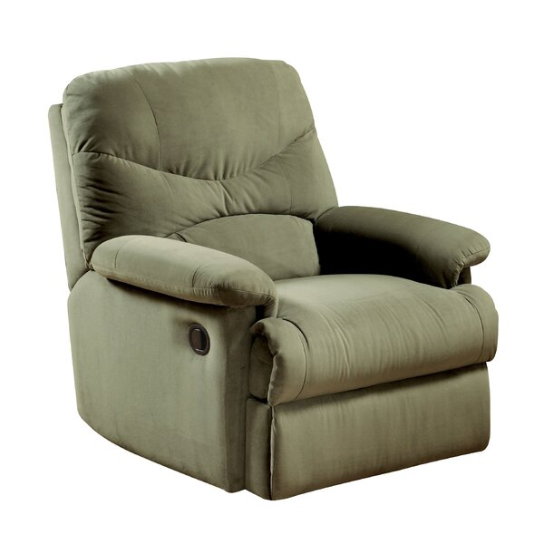 Hiltner Fabric Upholstered Manual Wall Hugger Recliner