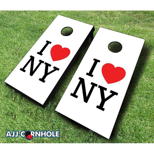 I Heart NY Cornhole Set by AJJ Cornhole