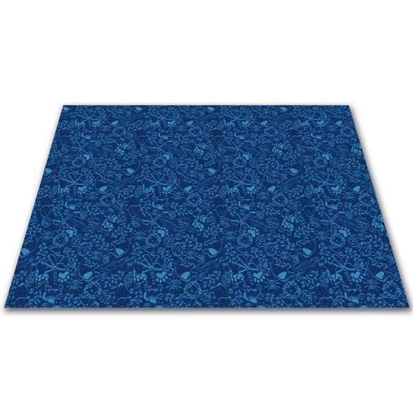 Animal Doodles Blue Area Rug by Kid Carpet