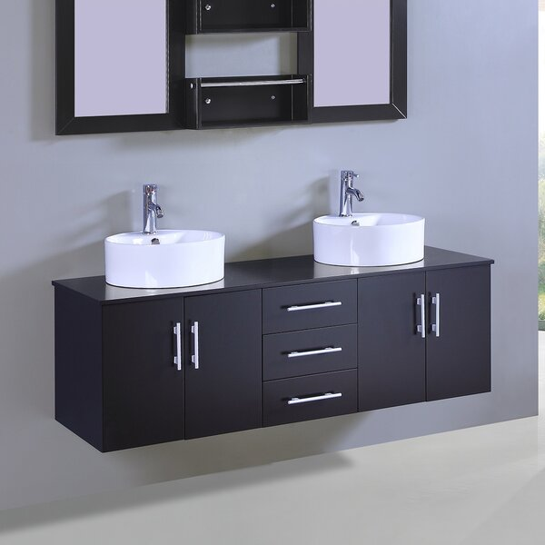 Kenzo 60 Double Vanity Set with Mirror by Orren Ellis