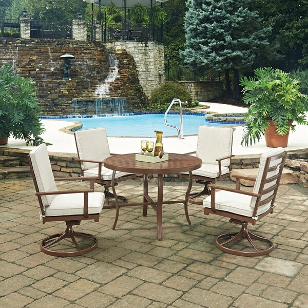 Key West 5 Piece Dining Set with Cushion by Home Styles