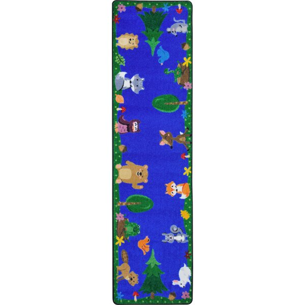 Animals Among Us Blue/Green Area Rug by Joy Carpets