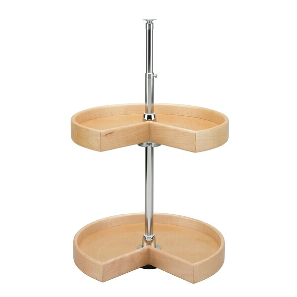 Natural Wood Kidney 2 Shelf Lazy Susan by Rev-A-Shelf
