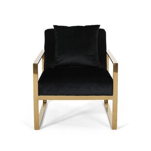 Penitas Stainless Steel Modern Glam Armchair