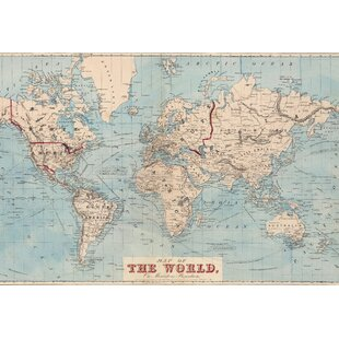 Wall murals youll love wayfair gilbertson map of the world wall mural publicscrutiny Images