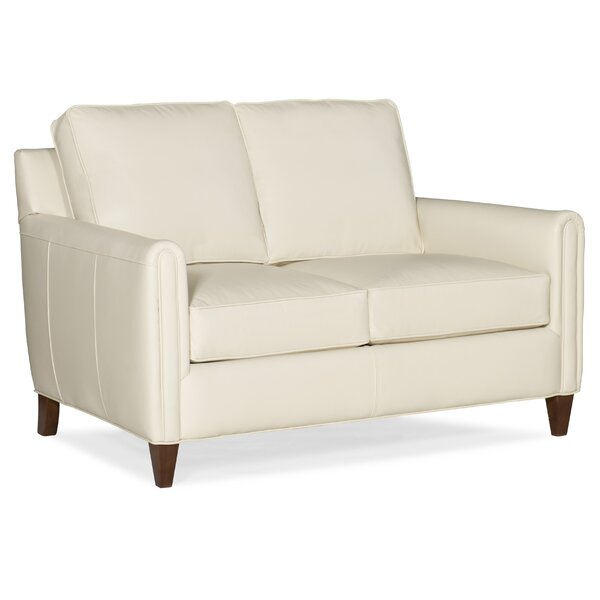 Weiss Leather Loveseat By Bradington-Young