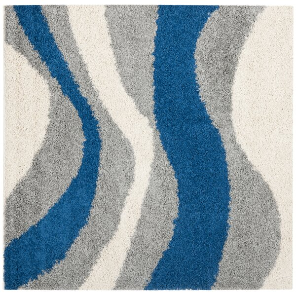 Swanson Gray/Blue Area Rug by Latitude Run