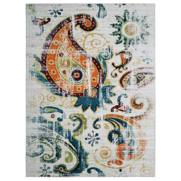 Hartshorn Blue/Ivory Area Rug by Bungalow Rose