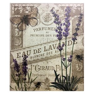 Smell of Lavender Graphic Art on Plaque by Lark Manor
