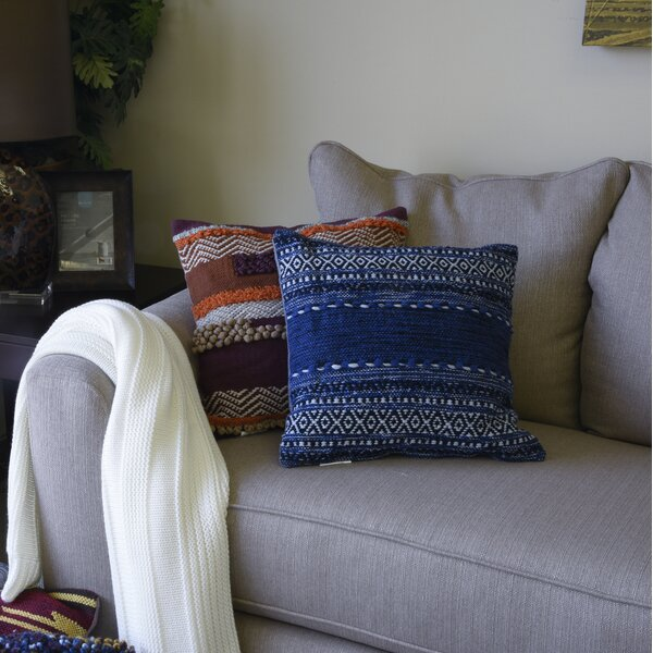 Boykin Cotton Throw Pillow by Bungalow Rose