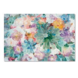 'Succulent Florals Crop' Print on Wrapped Canvas by Trademark Fine Art