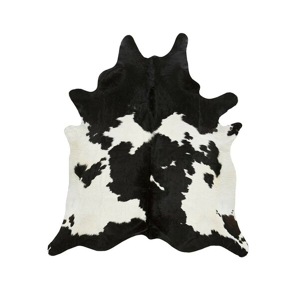 Special Cowhide Black/White Area Rug by Saddlemans