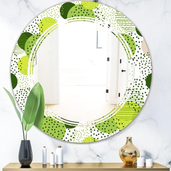 Triple C Circular Geometric X Cottage Americana Frameless Wall Mirror