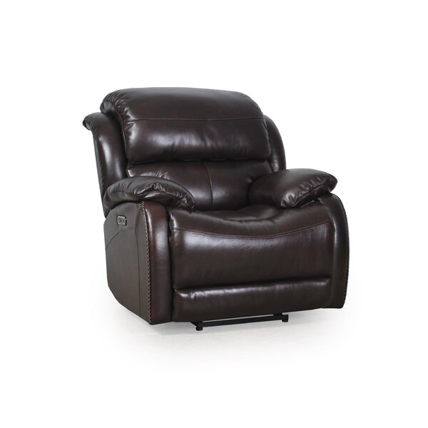 Kincade Leather Power Wall Hugger Recliner By Red Barrel Studio