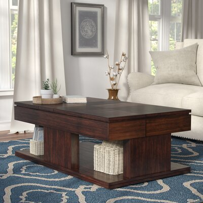 Darby Home Co Darby Home Co Borquez Wheel Coffee Table With Storage Esci8198 From Wayfair Daily Mail