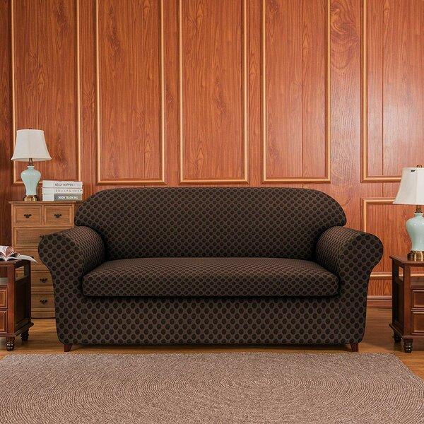 2 Piece Box Cushion Loveseat Slipcover Set By Subrtex