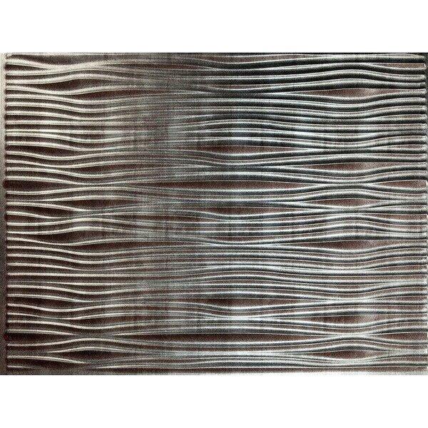 Gobi Backsplash Wall Paneling 18 x 24 Field Tile in Silver by MirroFlex