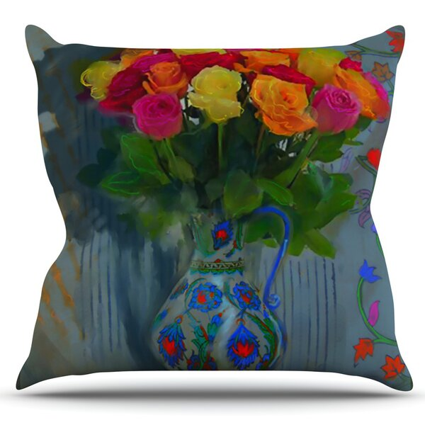 Spring Bouquet by S. Seema Z Outdoor Throw Pillow by East Urban Home