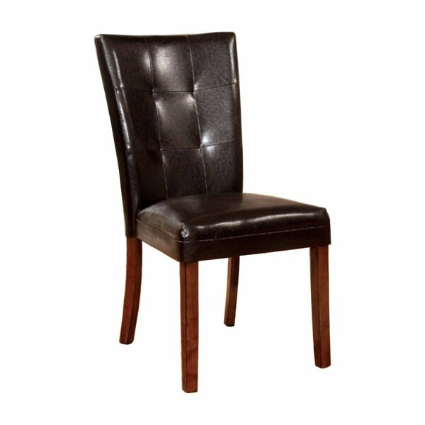 Carvajal Leather Upholstered Side Chair In Antique Oak (Set Of 2) By Foundry Select