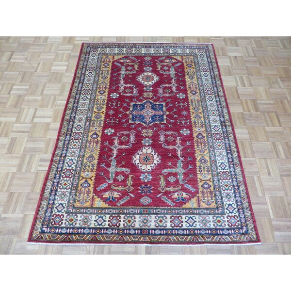 One-of-a-Kind Padula Super Shirvan Hand-Knotted Wool Red Area Rug by Bloomsbury Market