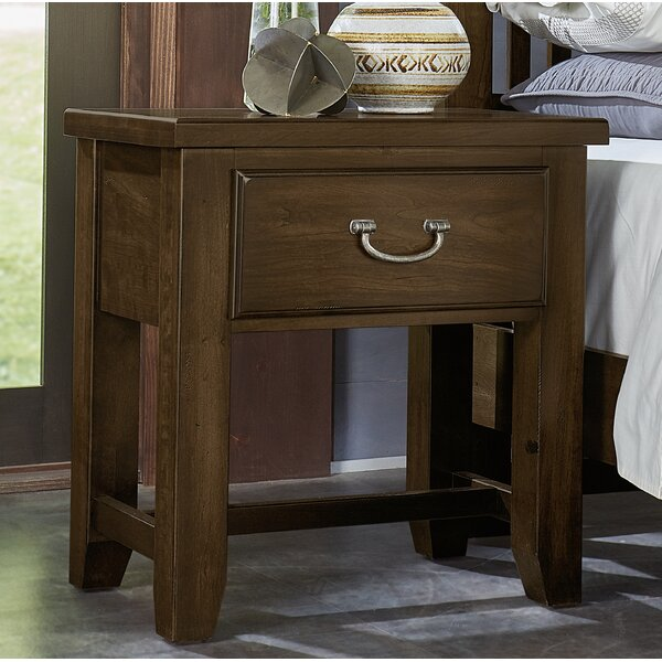 Rambert 1 Drawer Nightstand by Loon Peak