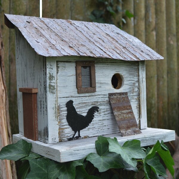 Bird in Hand SeriesCumberland Chicken Coop 10 in x 10 in x 8 in Birdhouse by Home Bazaar