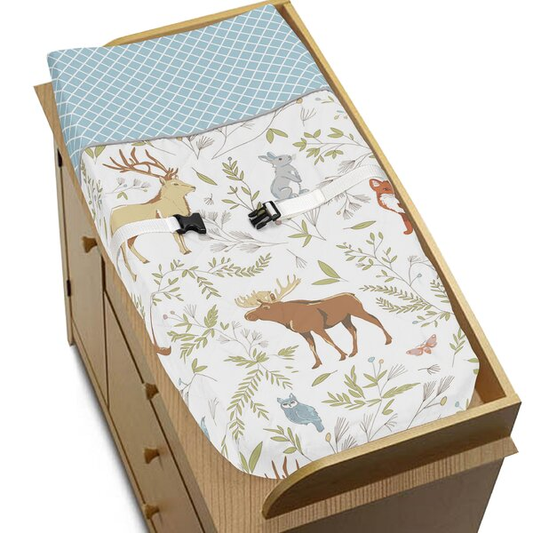 Woodland Toile Changing Pad Cover by Sweet Jojo Designs