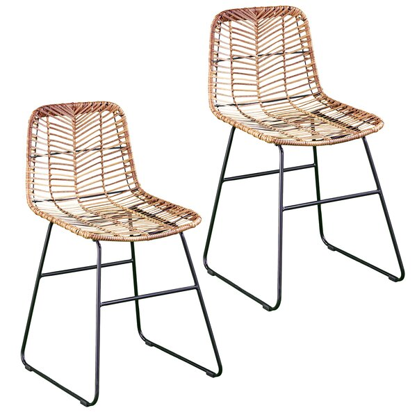 Iliana Patio Dining Chair (Set of 2) by Bay Isle Home