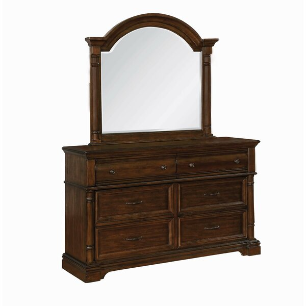 Steffens 6 Drawer Double Dresser with Mirror by Gracie Oaks