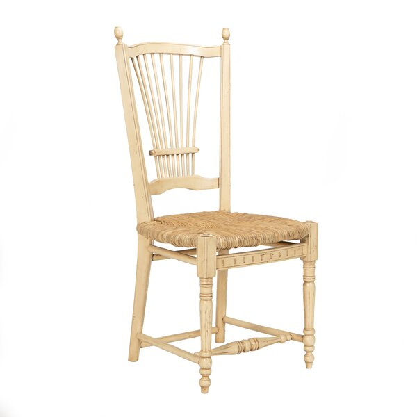 Provence Solid Wood Slat back Side Chair in Cream (Set of 2) by Manor Born Furnishings Manor Born Furnishings