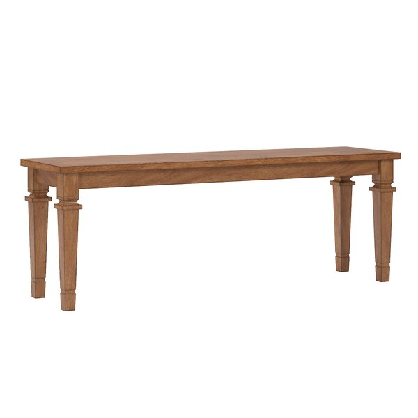 Terrio Wood Bench by Charlton Home